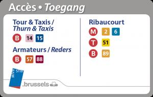 Acces Tour&Taxis stib mieux